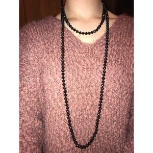 Black sparkly beaded necklace